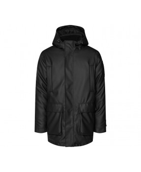 RAINS 1525 GLACIAL PARKA BLACK