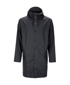 RAINS LONG JACKET1202 BLACK