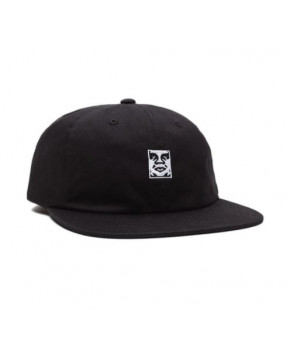OBEY MUNCHIES 6 PANEL BLACK