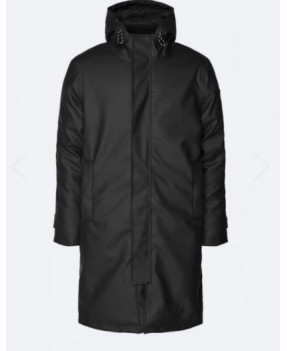 RAINS 1526 GLACIAL PARKA BLACK