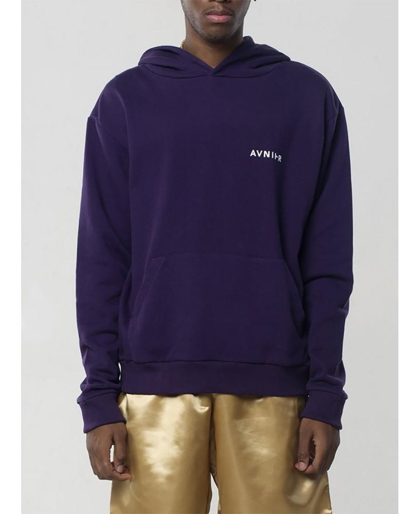 Avnier Hoodie Vertical Back Purple