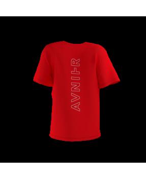 Avnier Tee-shirt Red Vertical Back