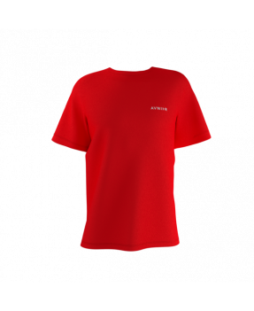 Avnier Tee-shirt Red Vertical Back