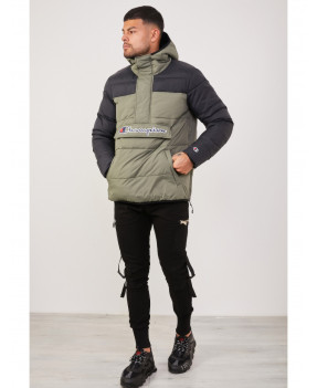CHAMPION HOOD JACKET KAKI/NOIR