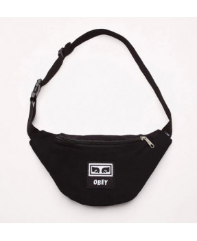 OBEY WASTED HIP BAG BLACK...